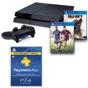 PS4 + Fifa 15 ou Call of Duty : Advanced Warfare + PS Plus 3 mois = 399 euros