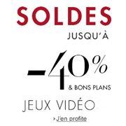 Soldes* Jeux Vidéo jusqu'à -40% et promotion