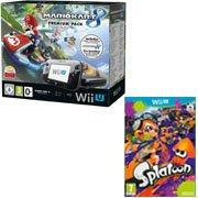 Nintendo Wii U 32 Go noire + Mario Kart 8 + Splatoon = 299 euros