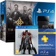La promotion contient 2 jeux exclusifs + 3 mois de Playstation plus et ses 2 jeux PS4 offerts par mois !