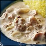 クリームマッシュルームで作る白いストロガノフ