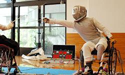 加納 慎太郎 選手   車いすフェンシング