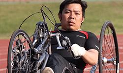 永野 明 選手   ハンドバイク