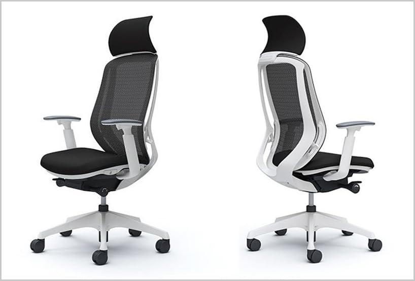 オカムラ オフィスチェア シルフィ― エキストラハイバック メッシュ アジャストアーム 樹脂脚 ホワイトフレーム C68AXW-FMP1 ブラック