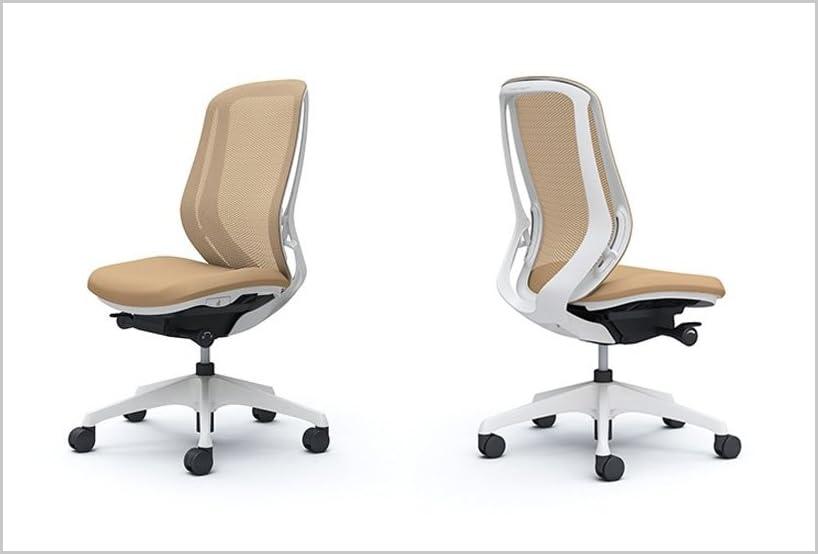 オカムラ オフィスチェア シルフィ― ハイバック メッシュ 肘無し 樹脂脚 ホワイトフレーム C635XW-FMP7 ベージュ