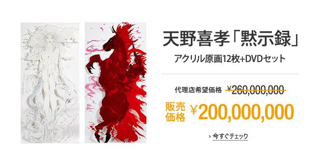 天野喜孝「黙示録」アクリル原画12枚+DVDセット