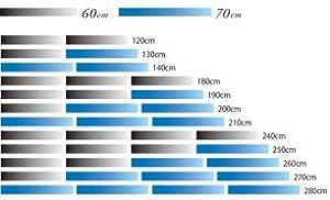 TP-002 60cmと70cmブランクの12パターンの組み合わせ