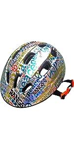ラングスジュニアスポーツヘルメットピースシルバーピブルー