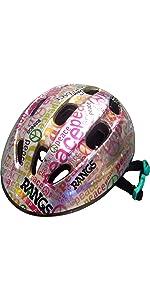 ラングス ジュニアスポーツヘルメット■ピース / シルバー×ピンク