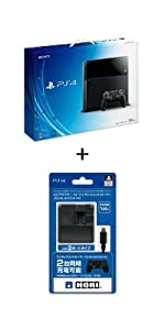 【Amazon.co.jp限定特典】PlayStation 4 ジェット・ブラック 500GB (CUH-1100AB01) ホリACアダプタ for DUALSHOCK4