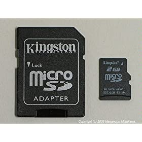 Kingston 2GB microSDカード SDC/2GB 東芝製チップ 永久保証