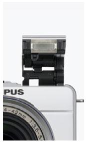 オリンパスPEN E-PL1sの内蔵フラッシュ