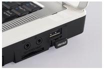 ■パソコンに接続しても邪魔になりにくい超小型モデル