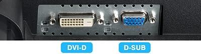 HDCP対応DVI-D端子、D-SUBの2系統入力を装備