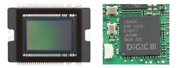 新開発CMOSセンサー 高性能映像エンジン「DIGIC III」