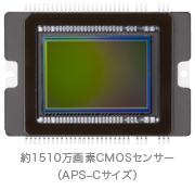 高画質を生み出す、大型CMOSセンサー