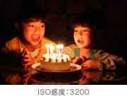 手持ち夜間撮影を実現する高ISO感度