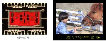 CANON EOS Kiss X3の高性能AFセンサー