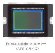 Canon EOS 7Dの1800万画素CMOSセンサー