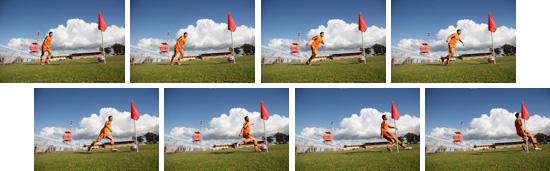 最高約8コマ/秒の超高速連写撮影写真