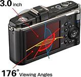 オリンパスPEN E-P2の液晶モニターは視野角が広い