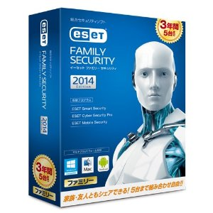 2014/5/16「ESET ファミリー セキュリティ 2014 3年版が5630円