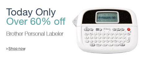 Over 60% off Brother Personal Labeler