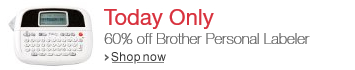 Brother Personal Labeler Deal of the Day