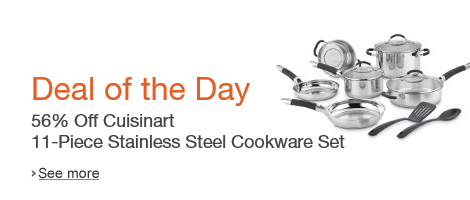 56% off Cuisinart 11-Piece Cookware Set