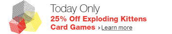 25% Off Exploding Kittens Card Games