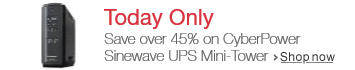 Deal of the Day: 46% Off CyberPower Sinewave UPS 1500VA 900W PFC Compatible Mini-Tower