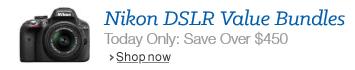 Today Only: Save Over $450 on Nikon DSLR Value Bundles