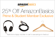 Prime Exclusive: Amazon Prime Members Save an Additional 25% off AmazonBasics