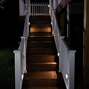 mr beams stick anywhere light, wireless outdoor step light