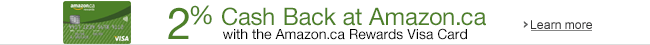 2% Back at Amazon.ca with the Amazon.ca Rewards Visa Card