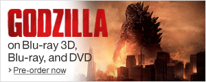 Godzilla on Blu-ray 3D, Blu-ray and DVD