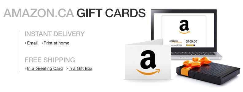 Amazon.ca Gift Cards