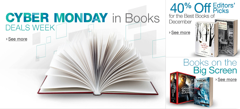 Cyber Monday Deals Week in Books