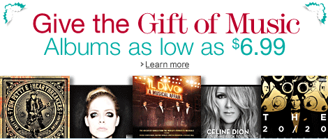 Give the Gift of Music: Albums as Low as $6.99
