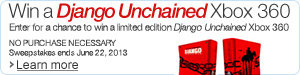 Amazon.ca Sweepstakes: Enter for a Chance to Win a Limited Edition Django Unchained Xbox 360