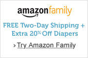 Amazon Family members get 20% off diapers subscriptions and  Free Two-Day Shipping with Prime Image