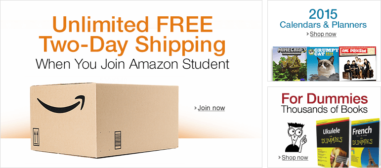 Unlimited Free Two-Day Shipping for Students
