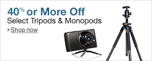 Up to 40% Off Tripods and Monopds