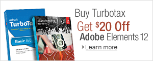 Buy Turbo Tax Get $20 Off Adobe Elements 12