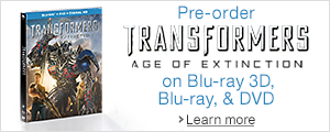Transformers: Age of Extinction Blu-ray 3D, Blu-ray and DVD
