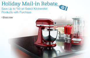 KitchenAid Holiday Mail-in Rebate