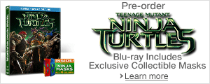 Teenage Mutant Ninja Turtles on Blu-ray 3D, Blu-ray and DVD