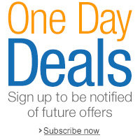 Sign up to be notified about one-day deals