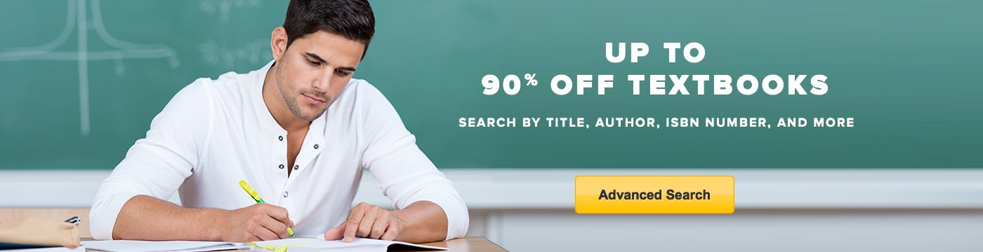 Up to 90% Off Textbooks - Search by title, author, ISBN number, and more