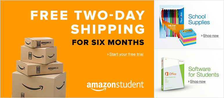 FREE Two-Day Shipping for Six Months When You Try Amazon Prime for Students